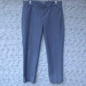EUC GAP Slim Cropped navy/white striped pants Sz4